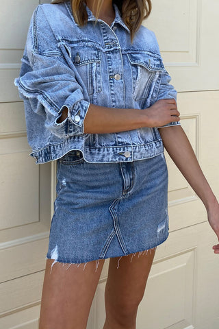 Brooke Rigid Denim Skirt