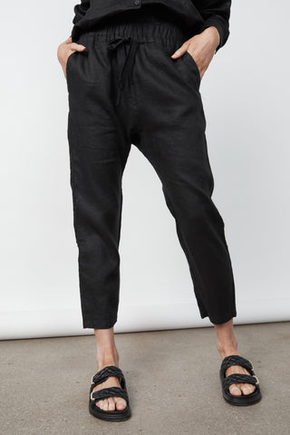 D-luxe Linen Drop Crotch Pant