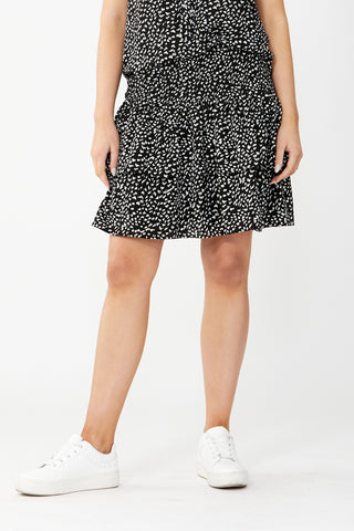 Poppy Shirred Mini Skirt