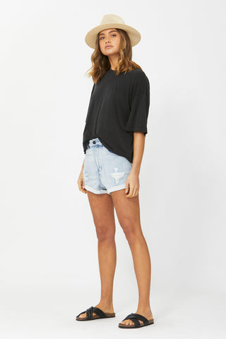 Cameron Knit Denim Short
