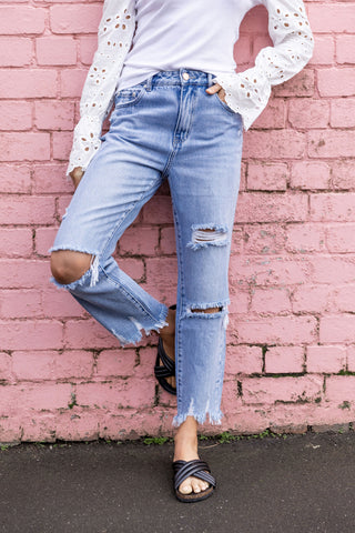 Courtney Rigid Ripped Jean