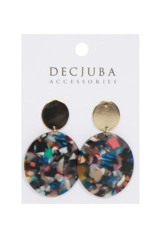 Cory Oval Resin Earrings