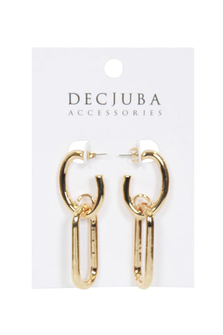 Cruz Double Oval Earrings