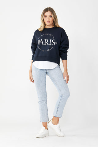 Paris Embroidered Sweat