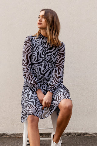 Tina Shirred Mini Dress