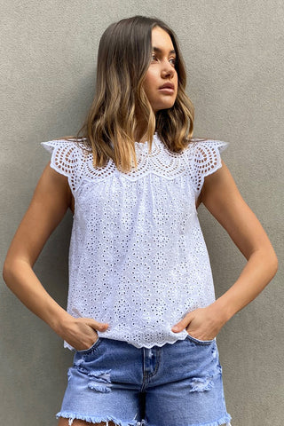 Gina Broderie Blouse