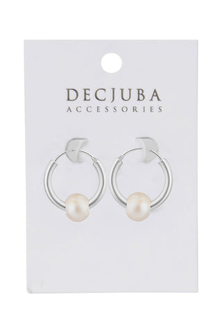 15mm Pearl Hoops