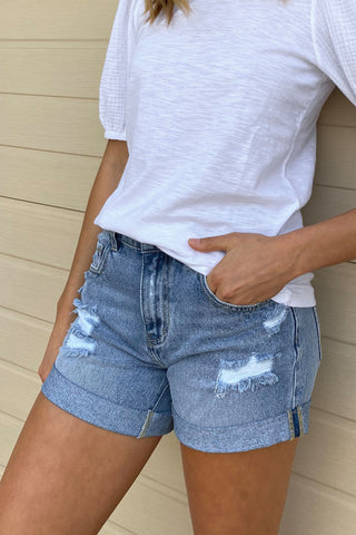 Stevie Roll Cuff Short