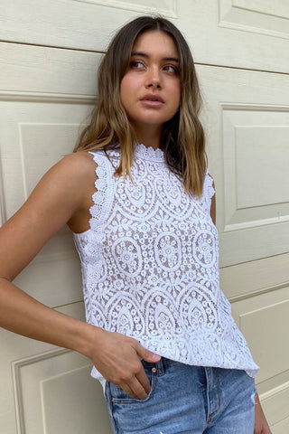 Isla Sleeveless Lace Top