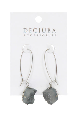 Semi Precious Hook Earrings