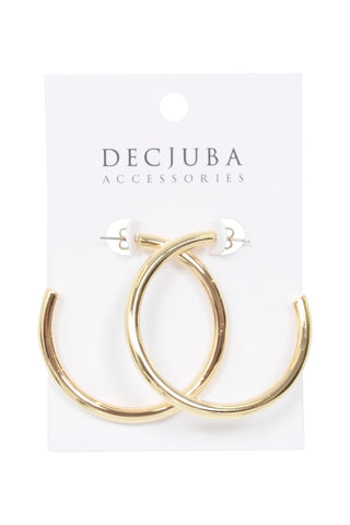 Winter Plain Hoop Earrings