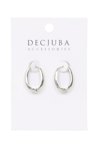 Whit Small Plain Hoop Earrings