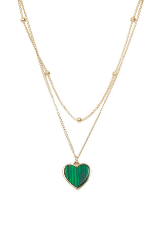 Malachite Layered Necklace
