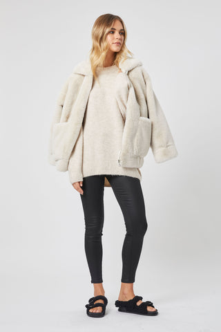 Ava Oversized Faux Fur Jacket