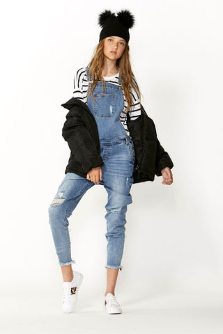Kids Distressed Long Overall