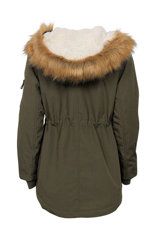 Kids Faux Fur Hood Parka