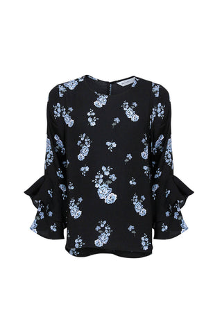 Kids Printed Ruffle Blouse