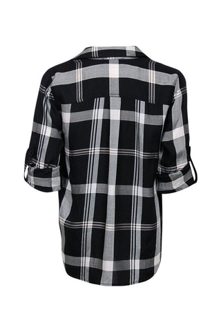 Kids Tie Front Check Shirt