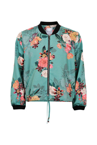 Kids Floral Bomber Jacket