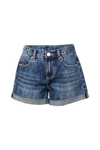 Kids Denim Cuff Short
