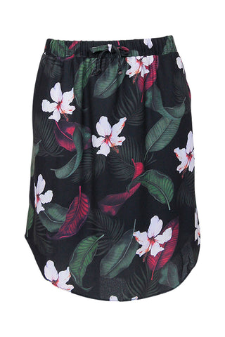 Kids Tropical Curved Hem Skirt