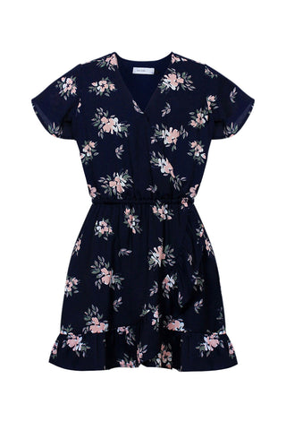 Kids Printed Wrap Dress