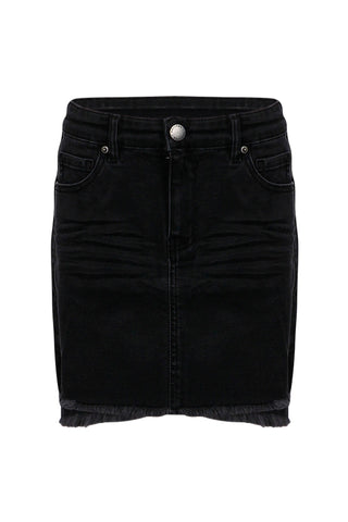 Kids Denim Stepped Hem Skirt