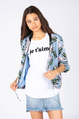 Kids Je T'aime Beaded Tee