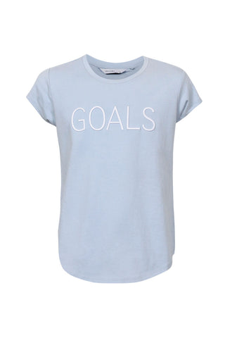 Kids Goals Embroidered Tee