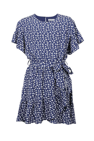 Kids Izzy Wrap Tie Dress