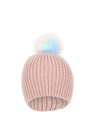 Kids Paige Single Pom Beanie