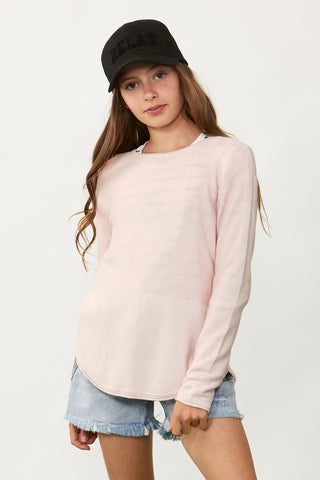 Kids Lily Curved Hem Pullover