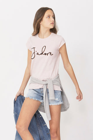 Kids J'adore Furry Flocked Tee
