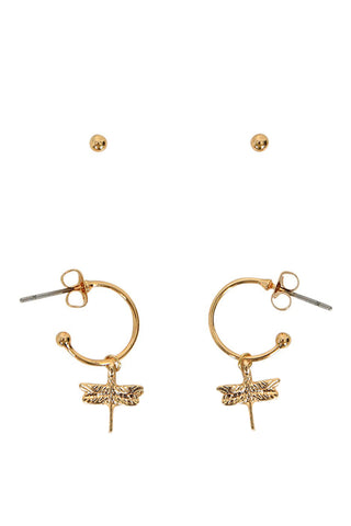 Kids Dragonfly 2 Pack Earrings