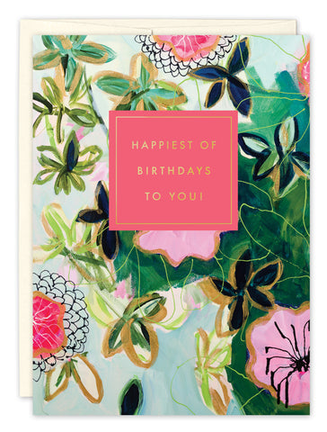 Birthday Card: HAPPIEST OF BIRTHDAYS TO YOU!