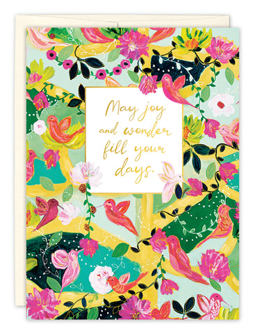 Birthday Card: MAY JOY AND WONDER FILL YOUR DAYS