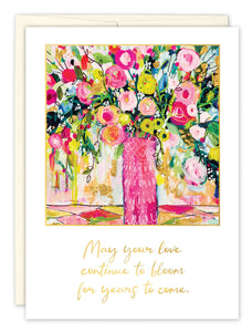 Wedding Card: MAY YOUR LOVE CONTINUE...