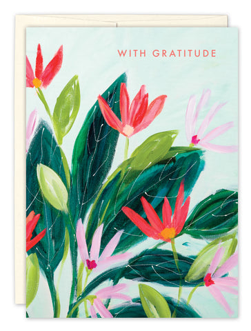 Thank You Card: WITH GRATITUDE
