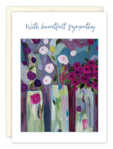Sympathy Card: WITH HEARTFELT SYMPATHY