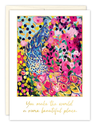 Thank You Card: YOU MAKE THE WORLD...