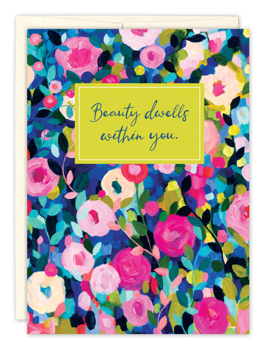 Thank You Card: BEAUTY DWELLS WITHIN YOU