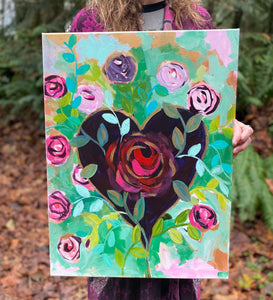A Unique Flower In Every Heart Original Art