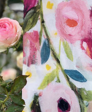 Load image into Gallery viewer, Rose Garden Tea Towel