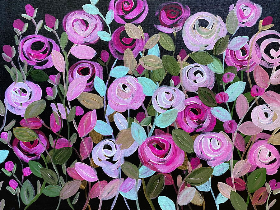 ROSE VINE DEMO 1 PAINTING