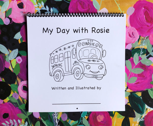 Rosie Bundle: Plush Doll, Coloring Book, Create Your Own Book, and Sticker!