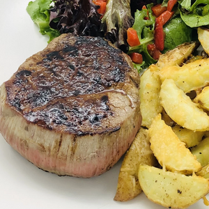 35΄ Steak With Wedges Potatoes & Parmesan per person