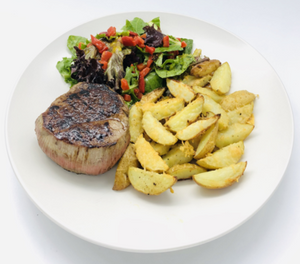 Monday delivery - Steak With Wedges Potatoes & Parmesan Ready to Enjoy