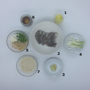 Familychef Shrimp Asian style ingredients