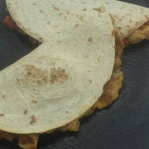 Familychef chicken quesadillas plate