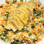 25' Moroccan Chicken With Couscous & Carrot Salad per person